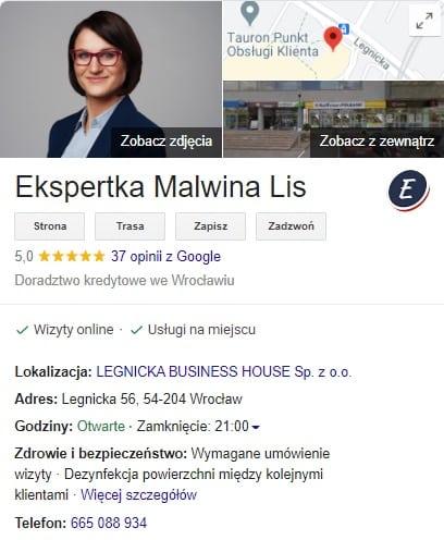 Dordoradca kredytowy wrocław profil google